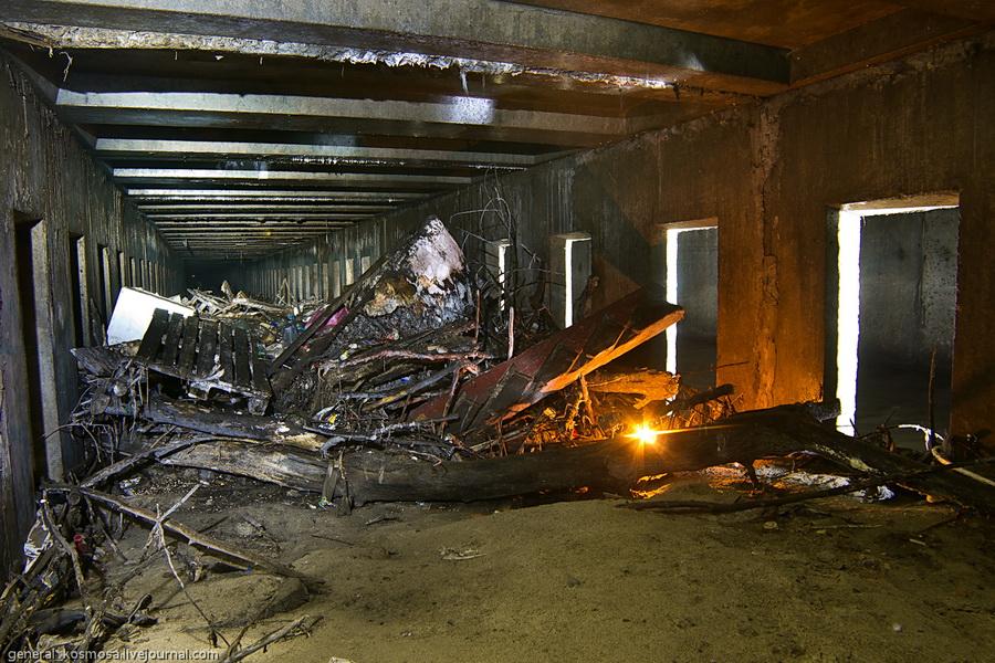 Мусорные засоры в подземельях речки Лыбидь