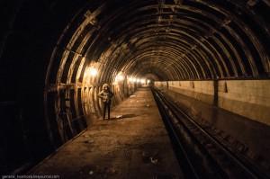 Диггеры проникли на станцию метро Львовская Брама