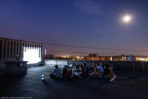 Кинопоказ на крыше Киев