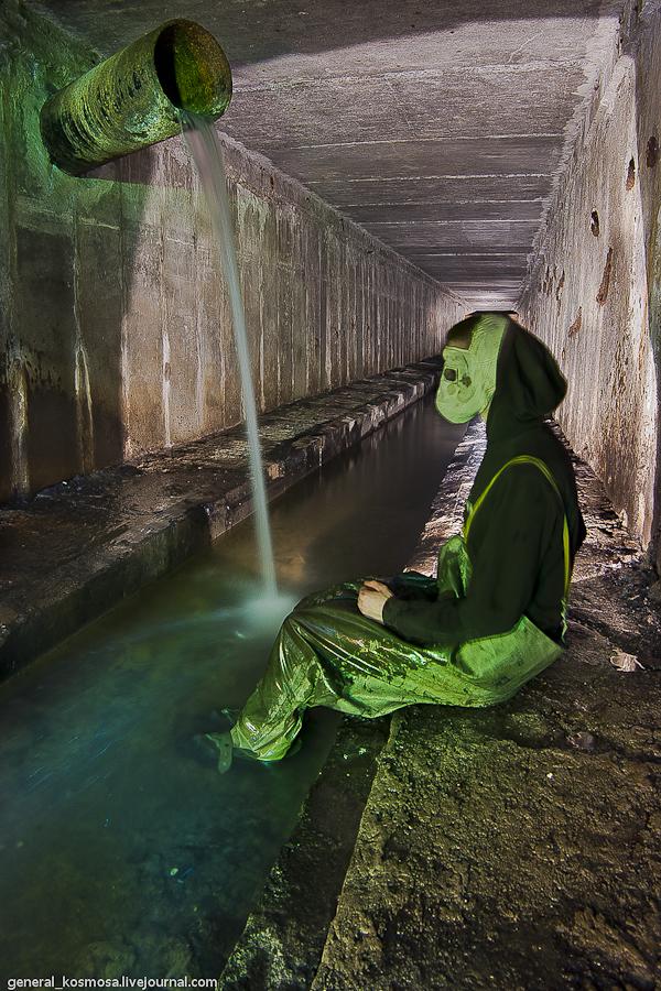 truba-kollektora-stolica Ручей Кадетская Роща - подземная река Первомайского массива Киева