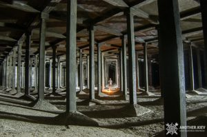 Columns in abandoned underground water resistor