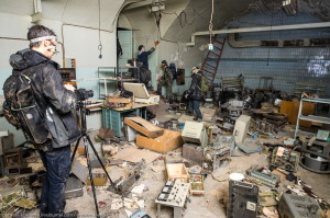 Заброшенные подземные цеха завода Арсенал, здесь царит полная разруха.