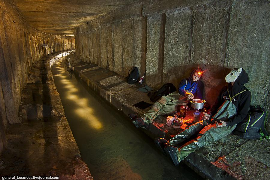 Пикник на берегу подземной реки Кадетская роща.