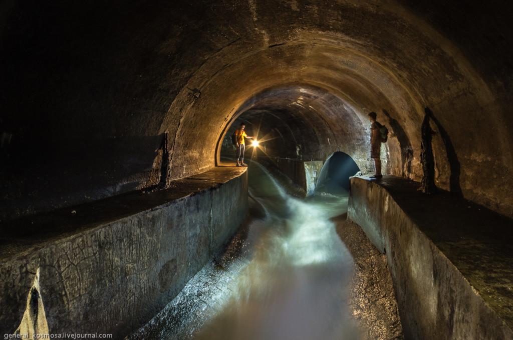 Poltva underground river in Lviv