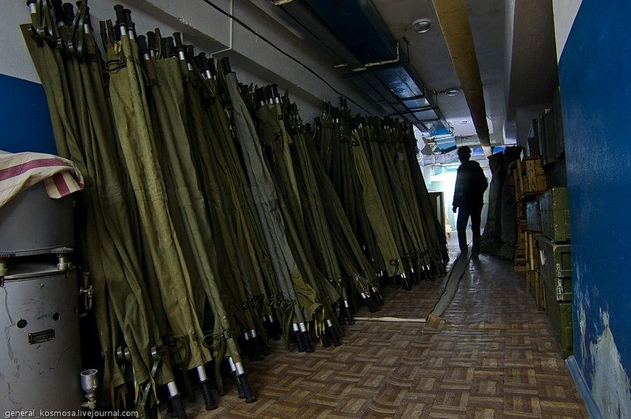 носилки в убежище гражданской обороны на случай чп