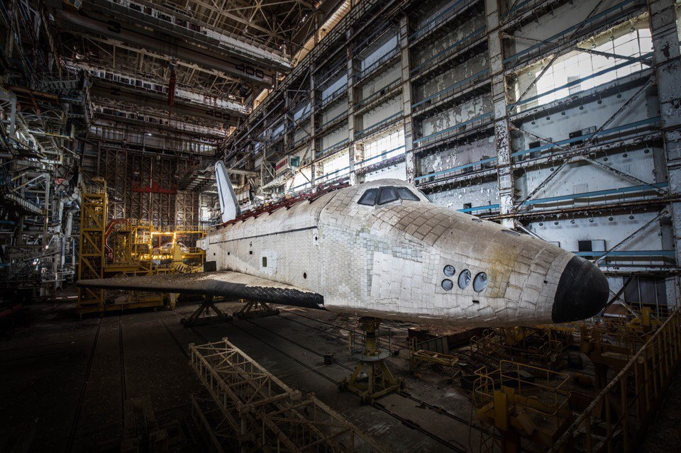 abandoned shuttle buran