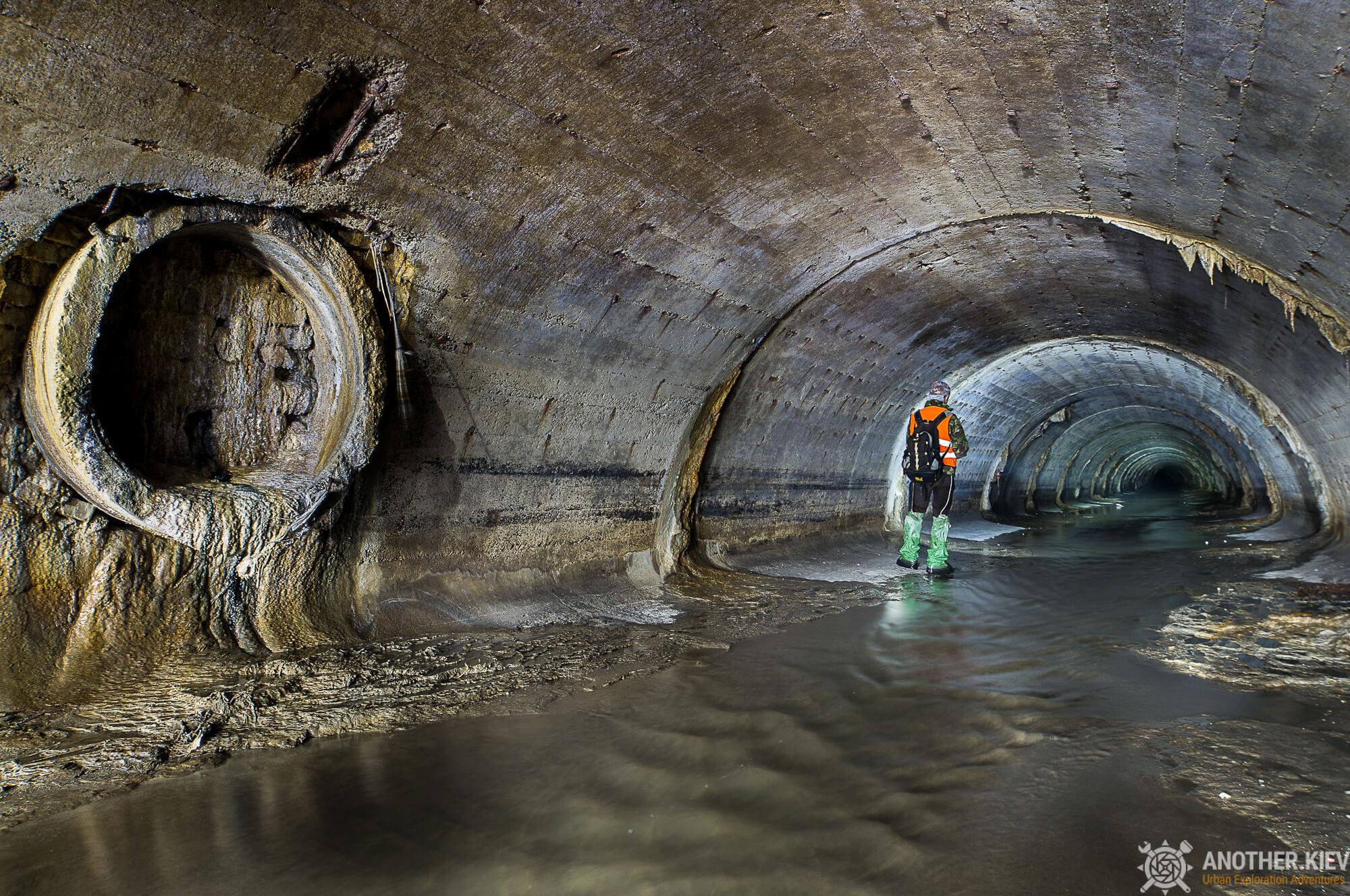 tunnel under city center of kiev suburbs
