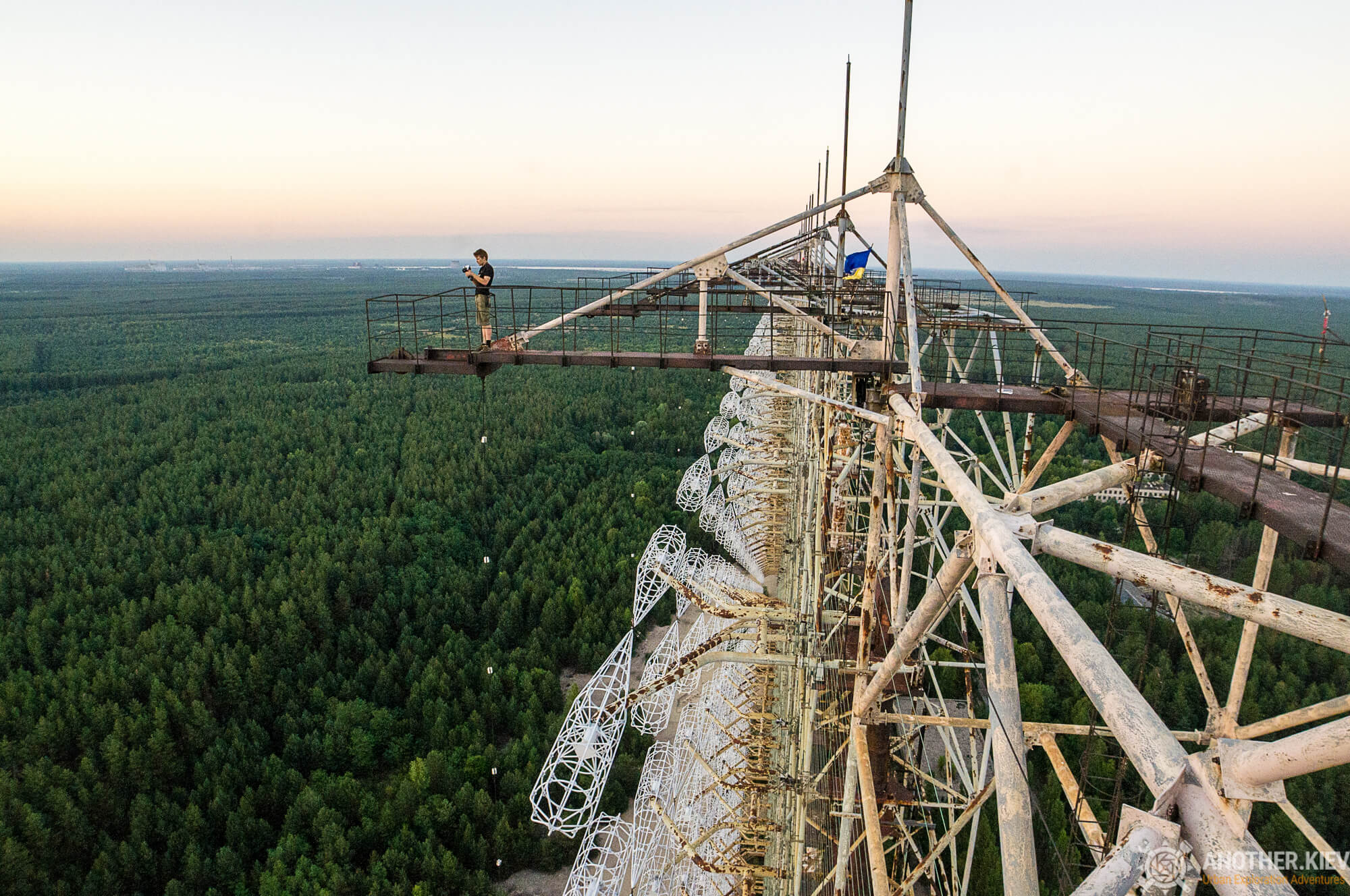on the top Russian woodpecker