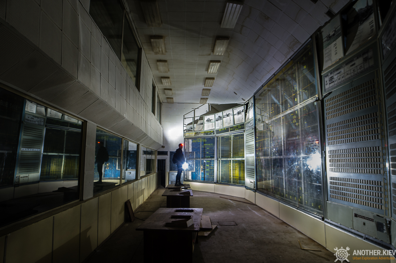 main hall of airforces abandoned bunker