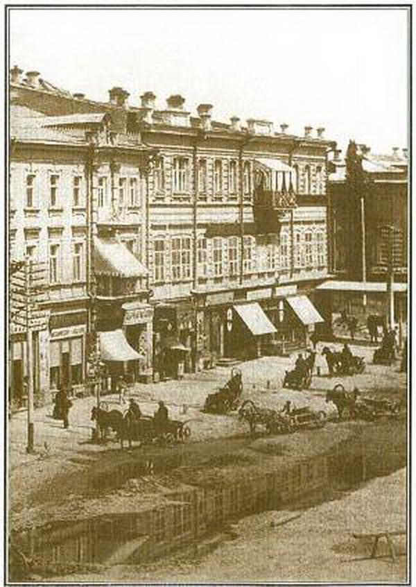 River on Kreschatyk street XIX century
