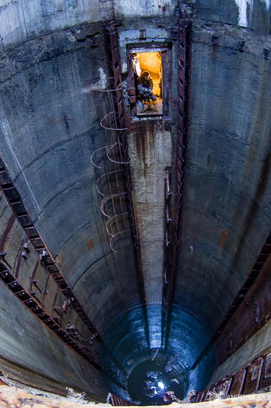 abandoned missile shaft near 30 meters deep