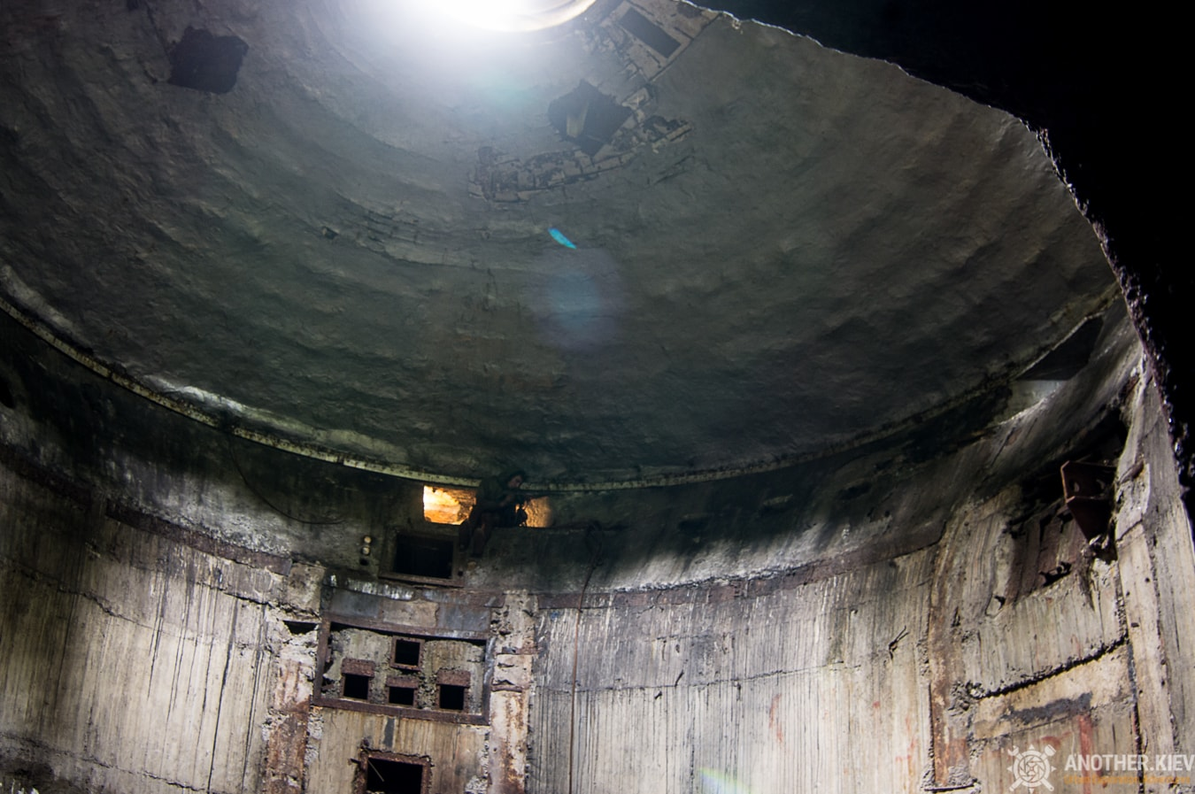 Under the dome covered abandoned missile shaft