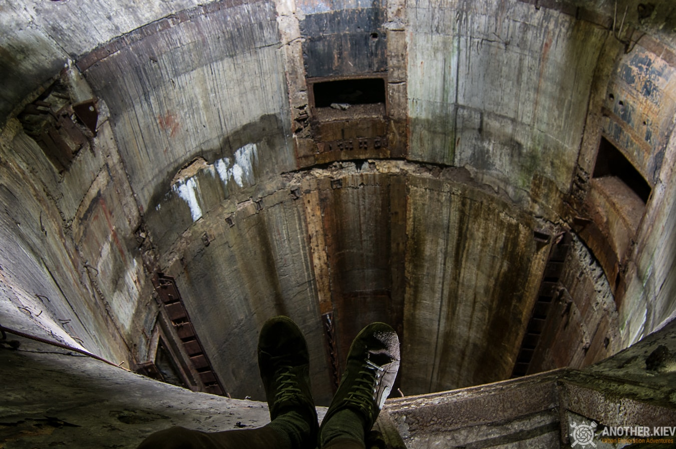 on the edge of abandoned missile shaft