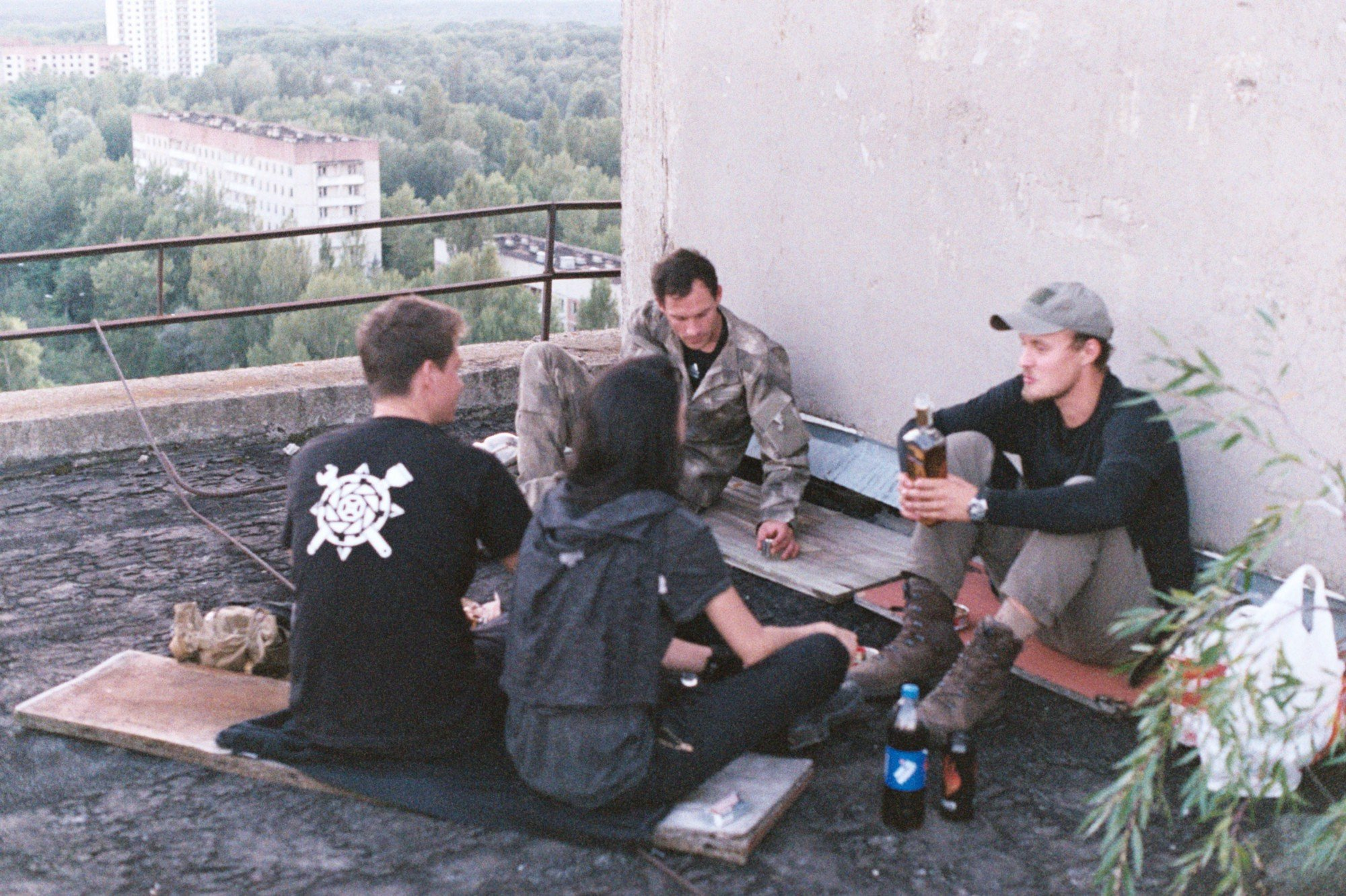 on the rooftop in Pripyat