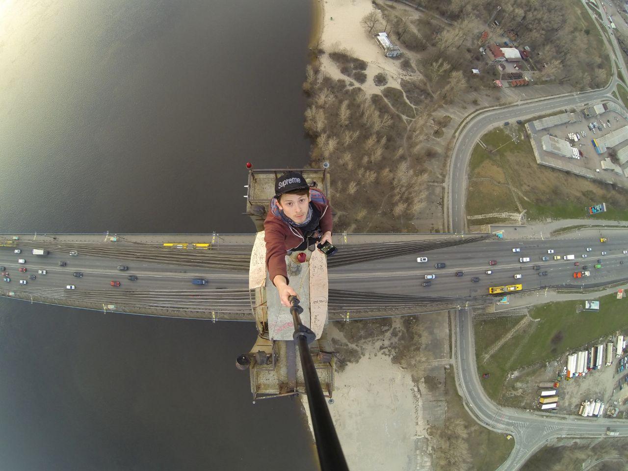 another.kiev crew on the top of pivnichny bridge