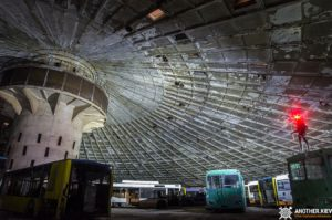 exploring abandoned bus depot in kiev