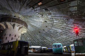 exploring abandoned bus depot in kiev