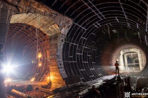inside one of unfinished tunnels