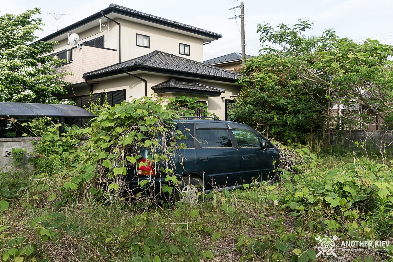 Abandoned cars in Fukushima red zone