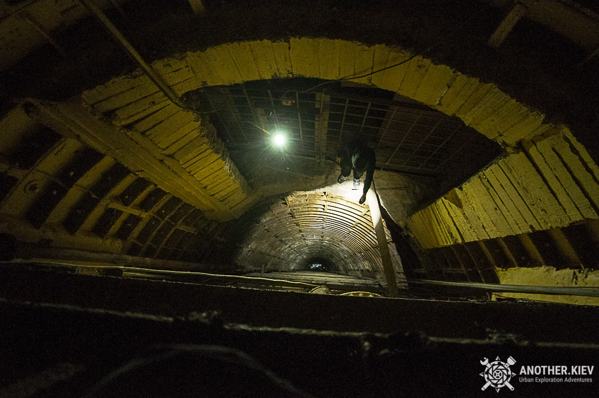 96 meters high shaft from deep pipe tunnel to water reservoir