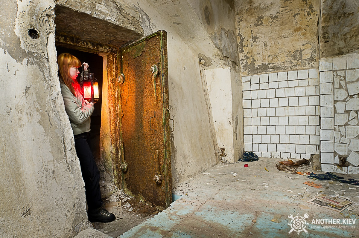 blast resistant door in abandoned water resistant tunnels