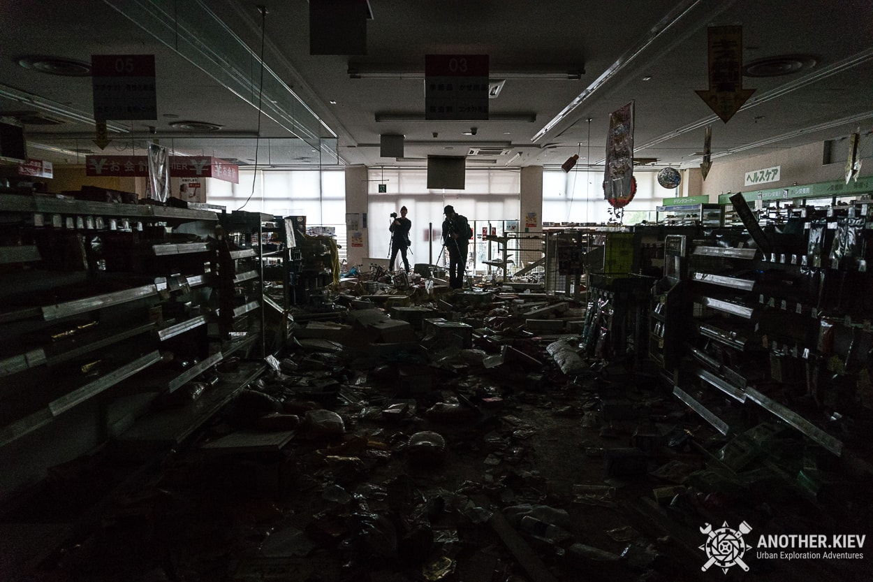 inside abandoned shop chaos