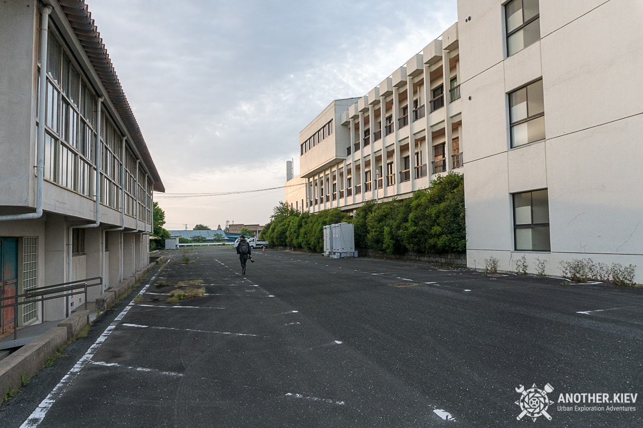Walking empty streets of Okuma - abandoned town in Fukushima red zone