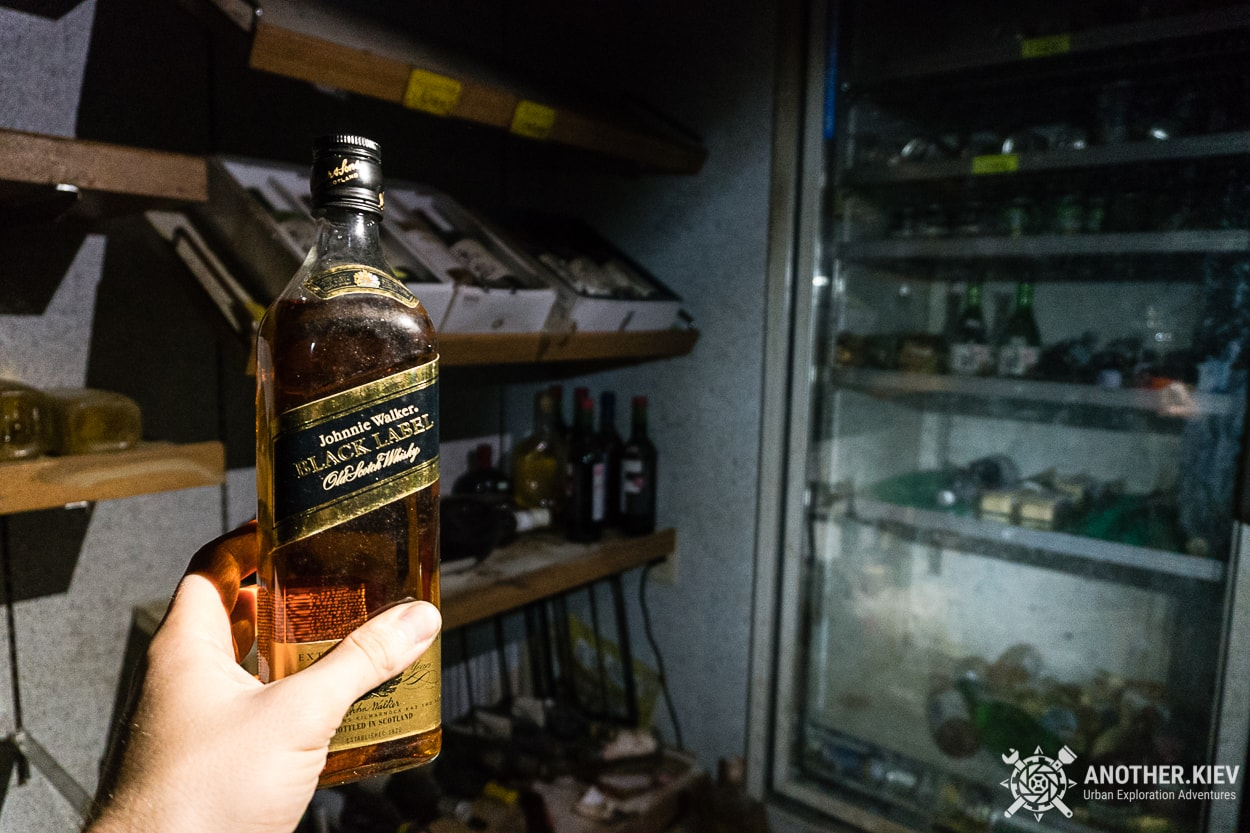 Black Label in abandoned alcohol shop
