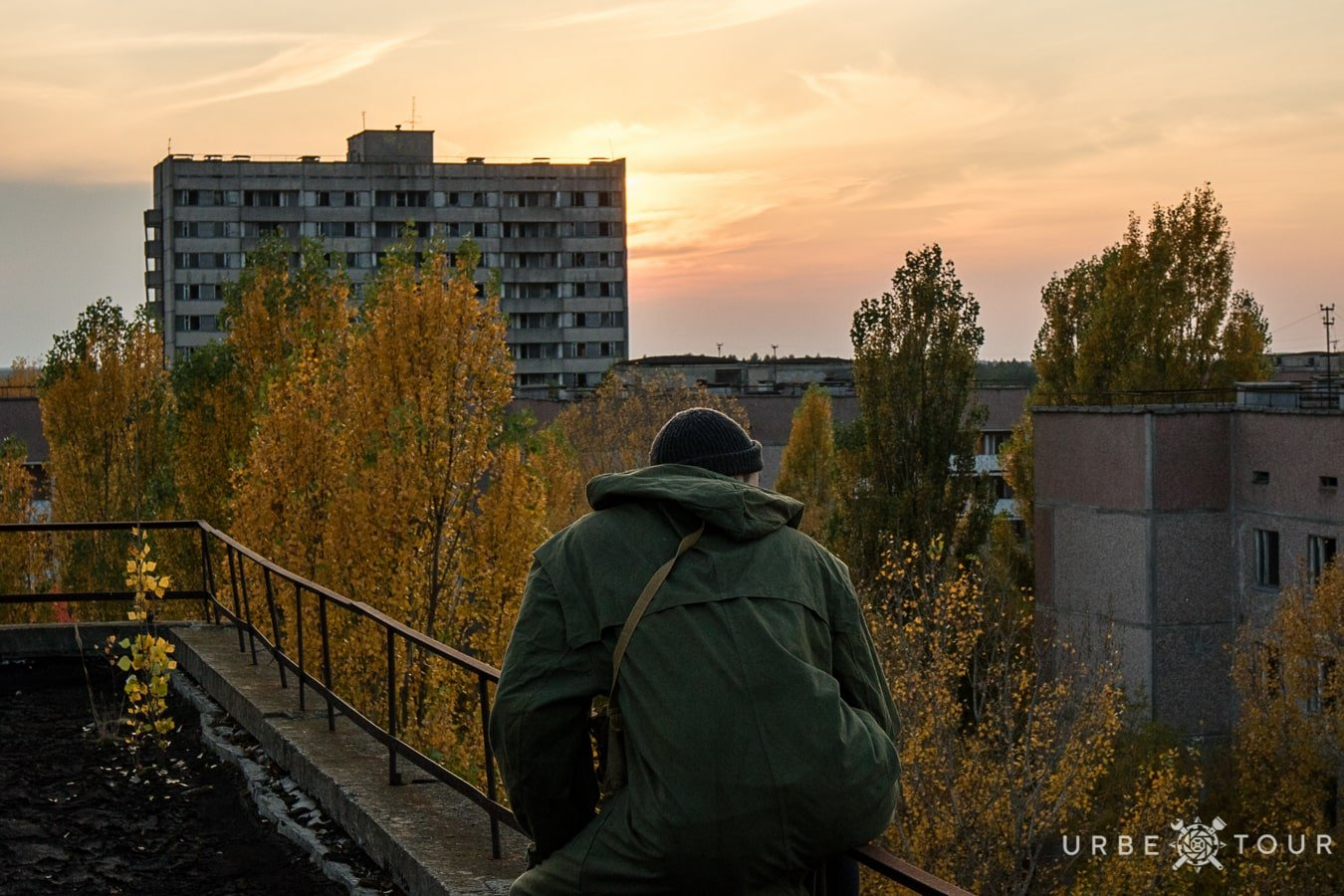 stalker is watching from the rooftop in Kiev