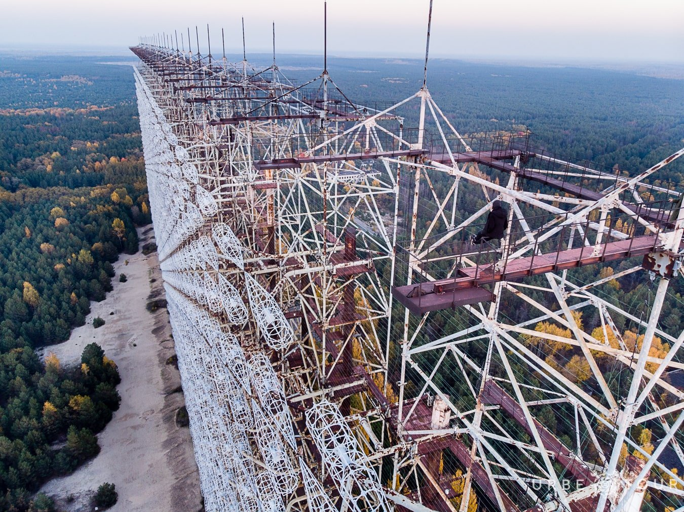 duga radar station from drone