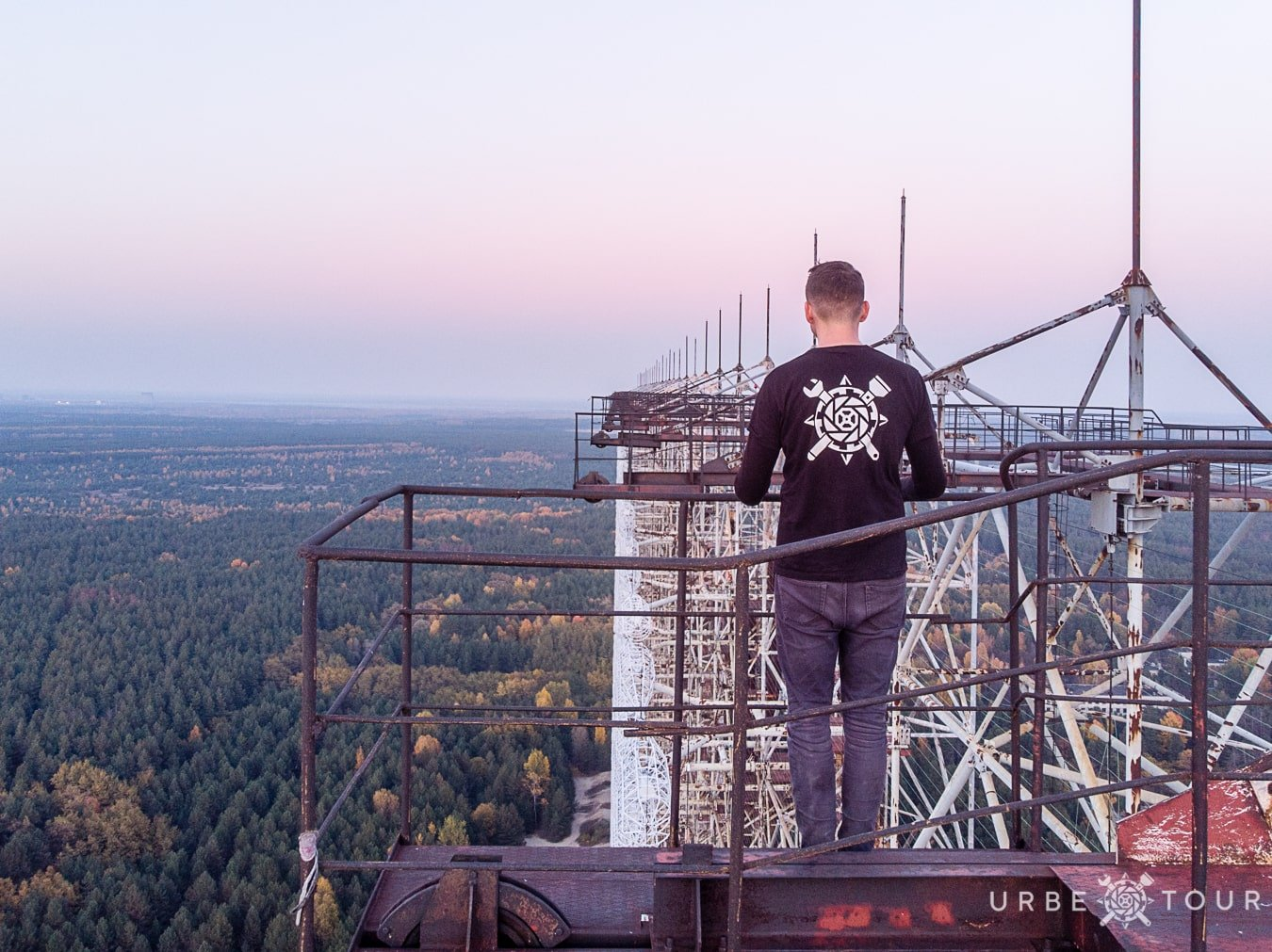 urbextour on the top of radar stationduga-3