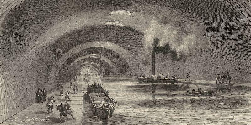 canal-draw Огромная подземная река под Парижем: канал Сен-Мартен