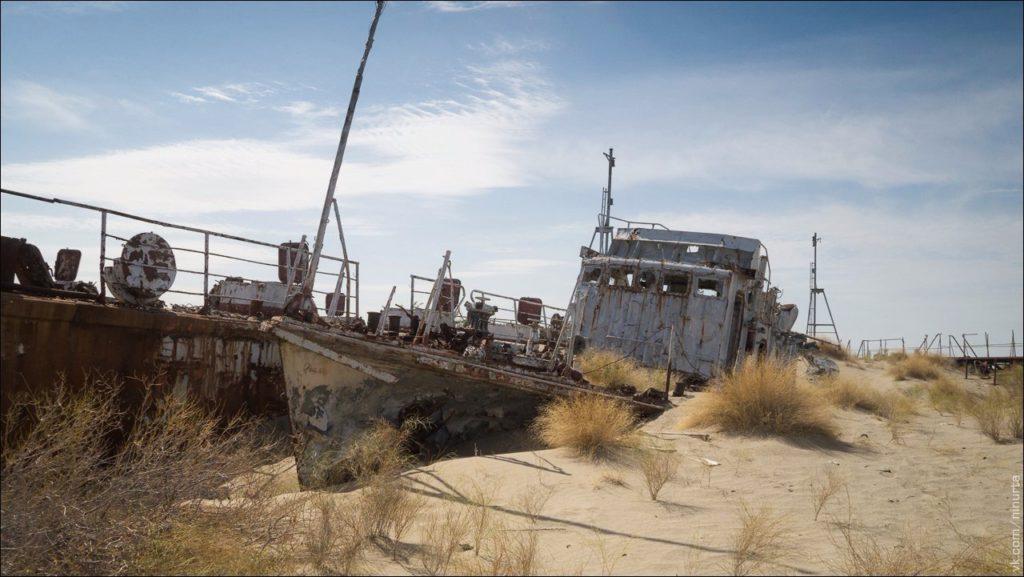 ships in the desert