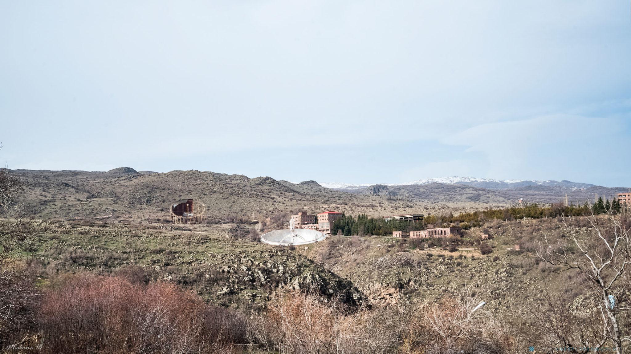Зеркальный радиотелескоп Геруни в Армении