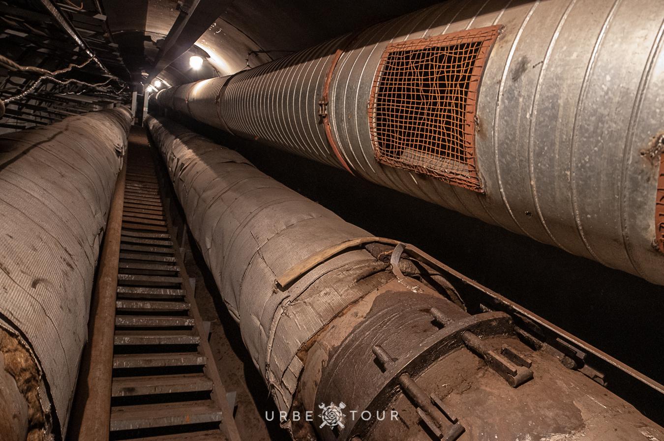спуск в туннель под Днепром