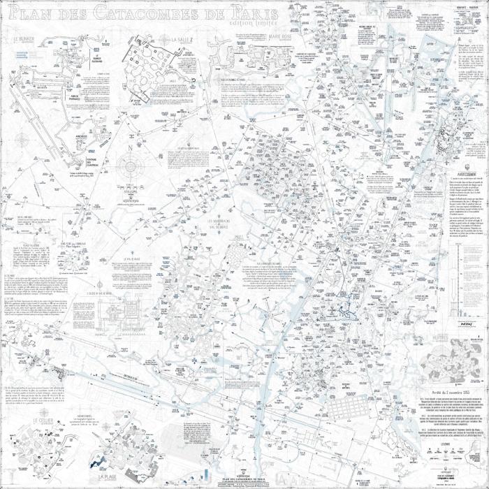 карта парижский катакомб