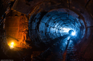 tunnel-pod-kievom-300x199 ABANDONED OPENCAST MINES IN UKRAINE: SOVIET IRON DINOSOURUS