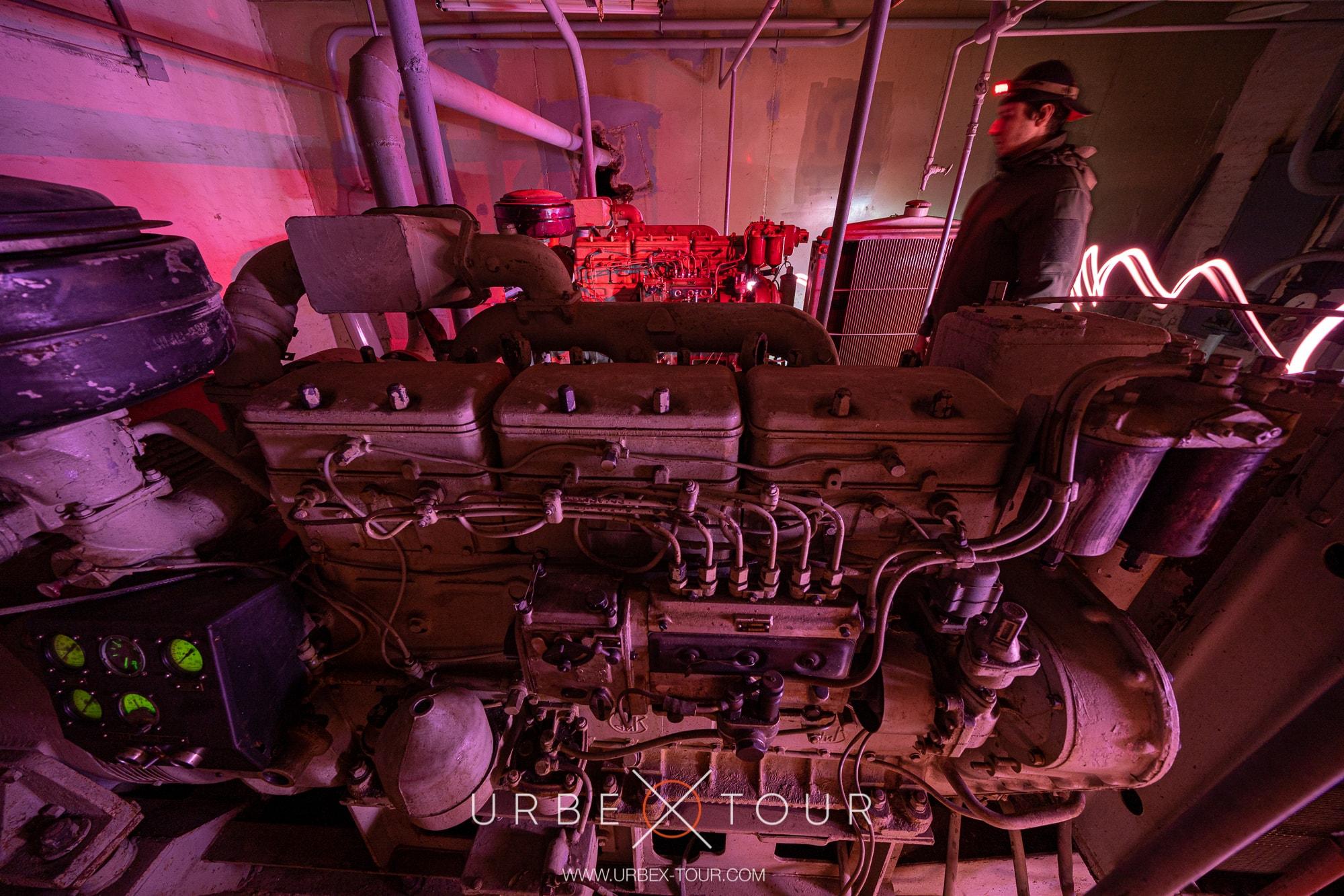 Diesel power station in abandoned cold war bunker